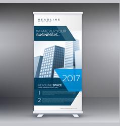 Business roll up standee banner flyer design vector