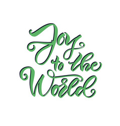 christmas lettering calligraphy vector image vector image