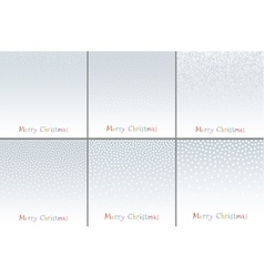 Christmas New Year Snow Flake Dots Backgrounds vector image vector image