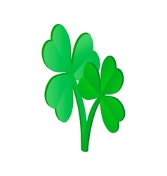 Clovers leaves isometric 3d icon vector image vector image