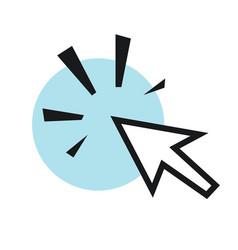 Cursors icons cick vector