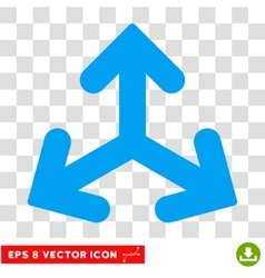 Direction variants round eps icon vector