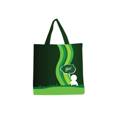 green purse with people icon color vector image vector image