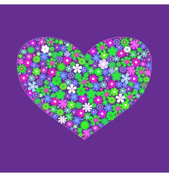 heart shape of flowers vector image vector image