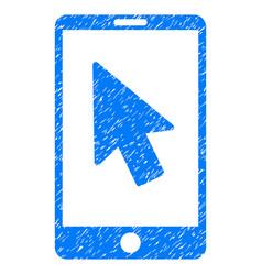 Mobile arrow pointer grunge icon vector