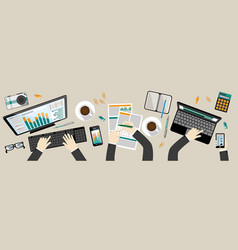 modern workplace - vektor flat style vector image