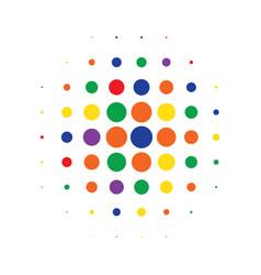 multicolor round halftone pattern design vector image vector image