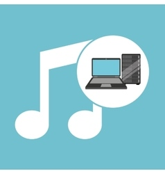 Music laptop data server vector