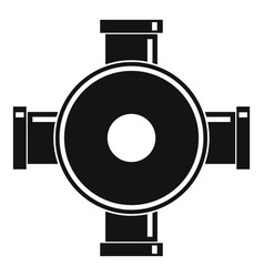 Pipe fitting icon simple style vector