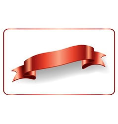Red ribbon satin bow banner vector image vector image