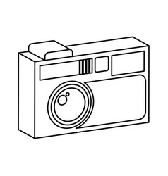 Retro camera photographic isolated icon vector
