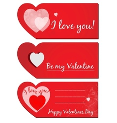 set of Valentines greeting cards vector image vector image