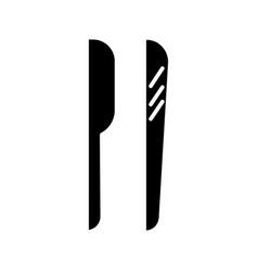shaving tools icon black vector image