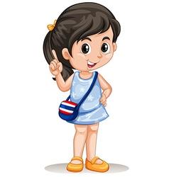 Thai girl with handbag vector image