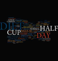 The day diet text background word cloud concept vector