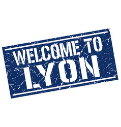 Welcome to lyon stamp vector