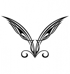 wings tattoo design elements vector image