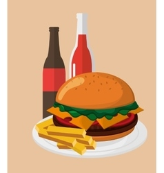 Hamburger and fast food design vector