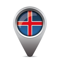 Iceland pointer flag vector