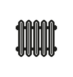 Radiator icon heater and heating heat symbol vector