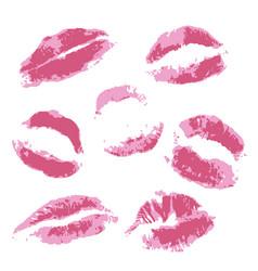 Print of volume pink lips vector