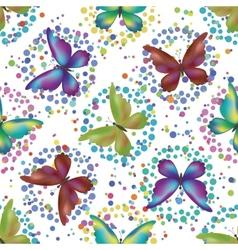 Seamless background butterflies vector image