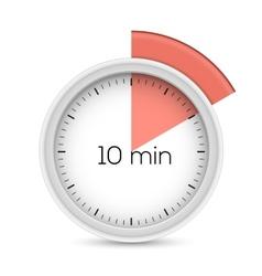 Ten minutes timer vector image