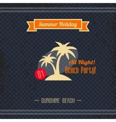 Beach retro page vector