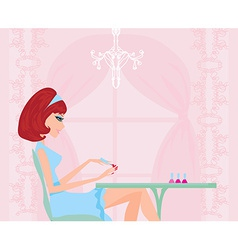 Manicure lady vector