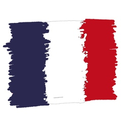 Flag of france handmade vector