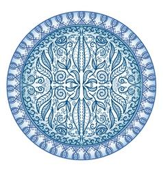Circular ornamental pattern vector