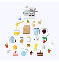 Cafe equipment icons collection 2 vector