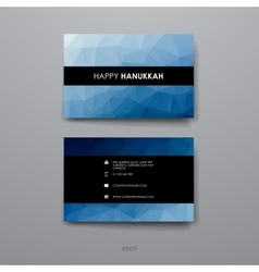 Set of modern design banner template in hanukkah vector