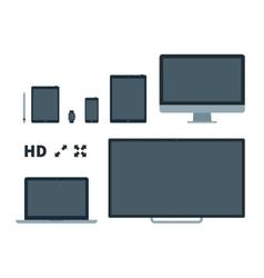 Screens flat vector