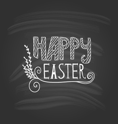 Happy easter lettering on dark background vector