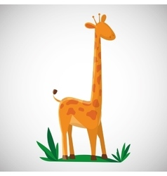 Animal design giraffe icon isolated vector