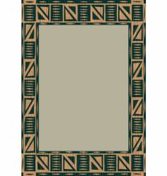 African wooden frame vector image vector image