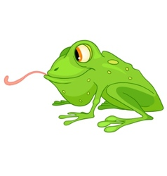 cartoon character frog vector image