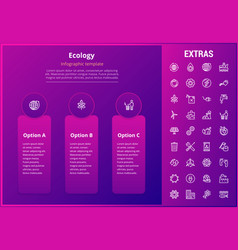 ecology infographic template elements and icons vector image