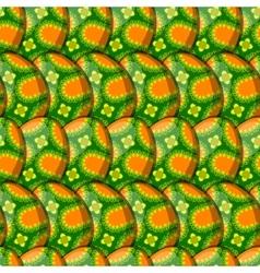 egg floral curl pattern vector image