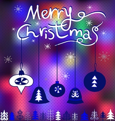 Elegant christmas greeting card with snowflake vector image