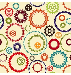Gear wheels pattern vector image