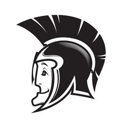 head of ancient warrior vector image