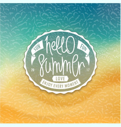 Hello summer styled coast background vector