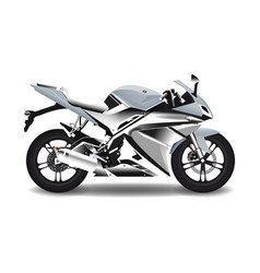 Motorcycle steel sport bike vector