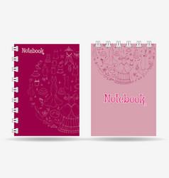 Notebook cover design vector