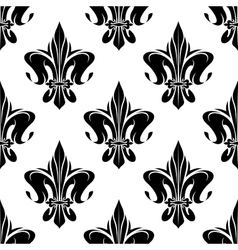 Royal floral fleur-de-lis seamless pattern vector