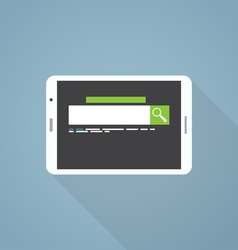 Search on tablet vector image