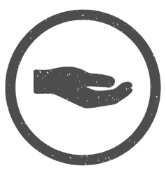 Share hand icon rubber stamp vector