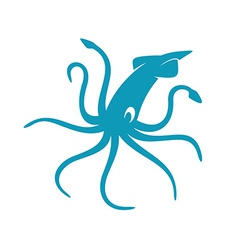 Squid silhouette vector image
